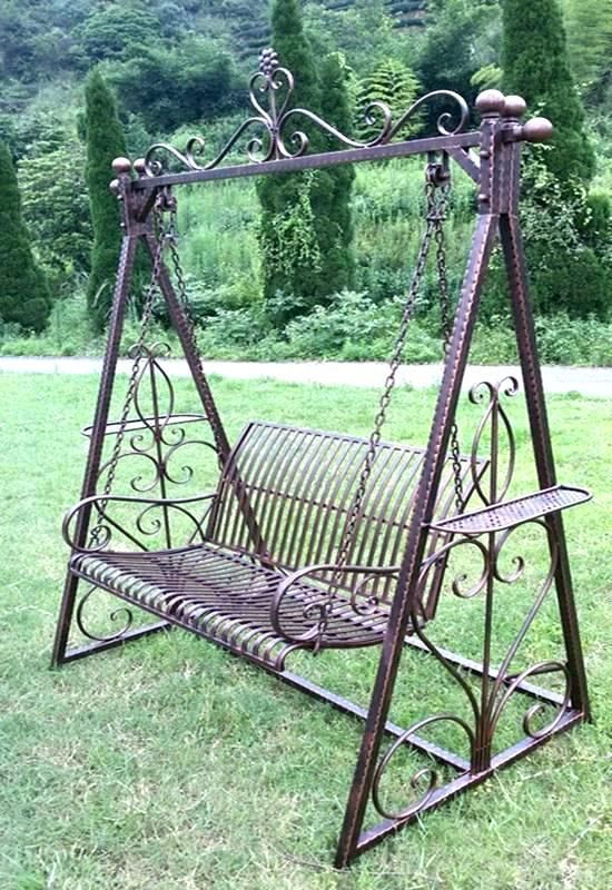 Wrought Iron Swing Outdoor With Frame Back Yard Project In 2019
