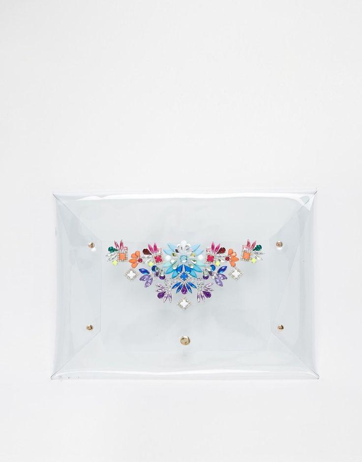 Skinnydip Envelope Clutch with Embellishment