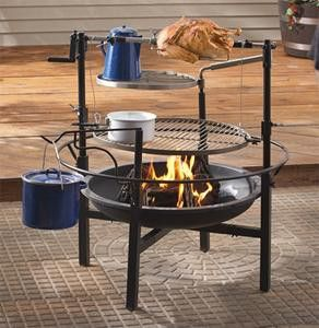 Backyard campfire cooking. Looks like a great birthday gift for hubby! :-)