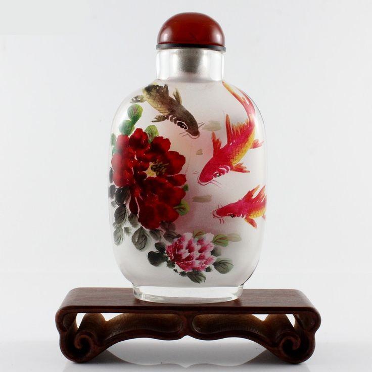 traditioneel beschilderde glazen vaas