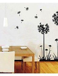 zooyoo venta caliente bricolaje dientes de len flores de limn pared removible etiqueta pegatinas pared
