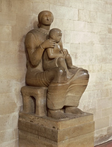 Henry Moore ~  English ~ { 30 July 1898 – 31 August 1986 } ~  Madonna and Child, 1944 ~ http://www.tate.org.uk