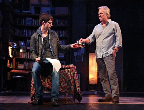 "Nov 2011 - Alan Rickman and Hamish Linklater in ""Seminar"" at the Golden Theater in NY. -- Alan played Leonard in ""Seminar"" from November 20, 2011 to May 31, 2012."