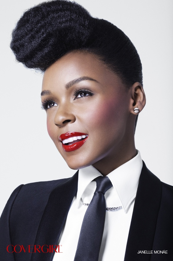Select from COVERGIRL Janelle Monáe's Vogue Magazine Debut! Get the look with COVERGIRL LipPerfection Lipcolor™ in Hot. http://www.covergirl.com/lipperfectionlipcolorJanelle Mona, Janellemona, Janel Moná, Makeup, Beautiful, Nature Hair, Covergirl, Janelle Mona, Janel Mona