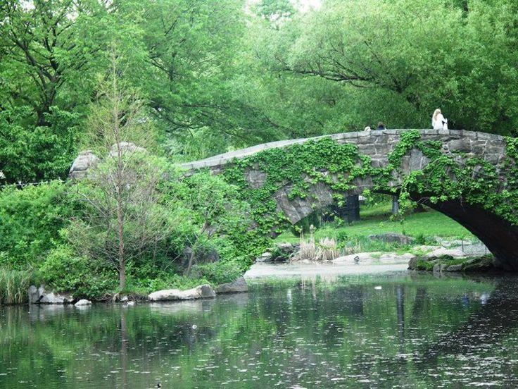 marche sur le pont à central park Wallpaper
