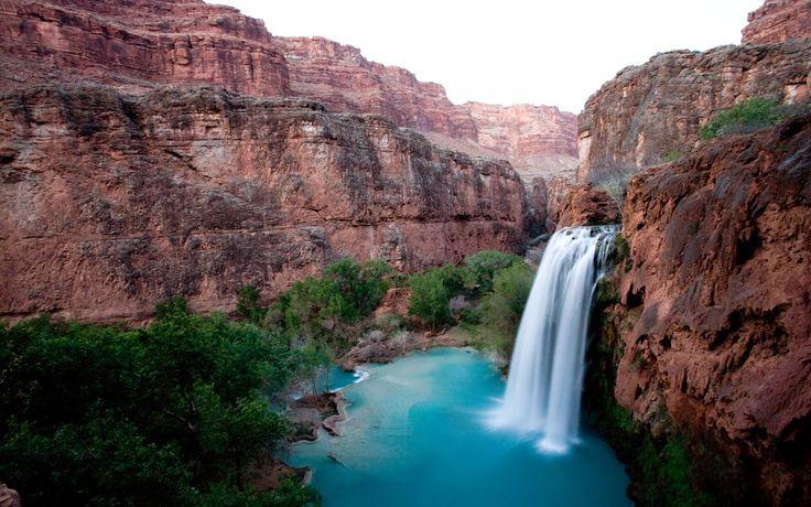 chutes d'eau Havasupai grand canyon
