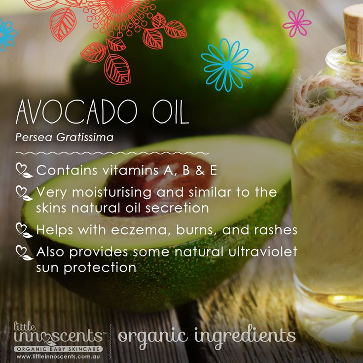 Avocado oil contains vitamins A, B & E and as well as being very moisturising, it contains properties similar to our own skin's natural oils. You can find this organic ingredient in the Little Innoscents Intensive Soothing Cream and our Moisture Rich Body Lotion.  #organic #organicbaby #certifiedorganic #australiancertifiedorganic #australianorganic #babycare #organicskincare #aloe #calendula #organiccalendula #organicbabyskincare #baby