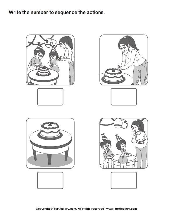 Logische volgorde feest, sequencing preschool
