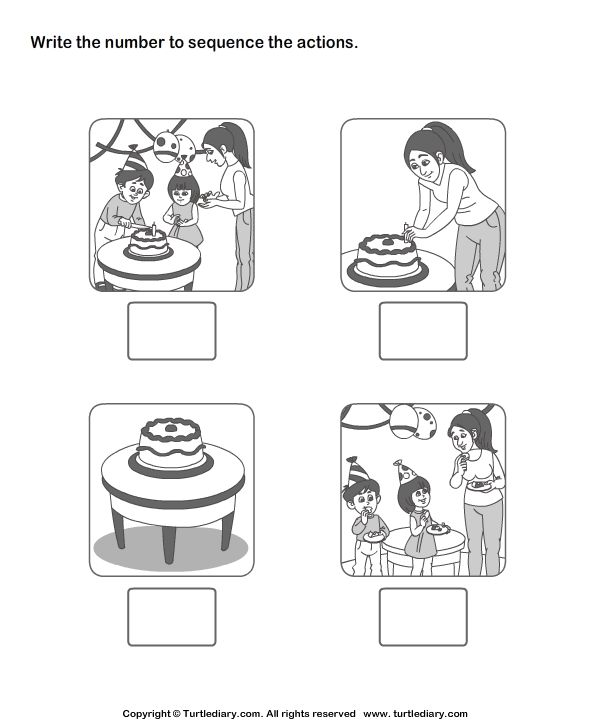 Picture Sequence 2 Worksheet - TurtleDiary.com