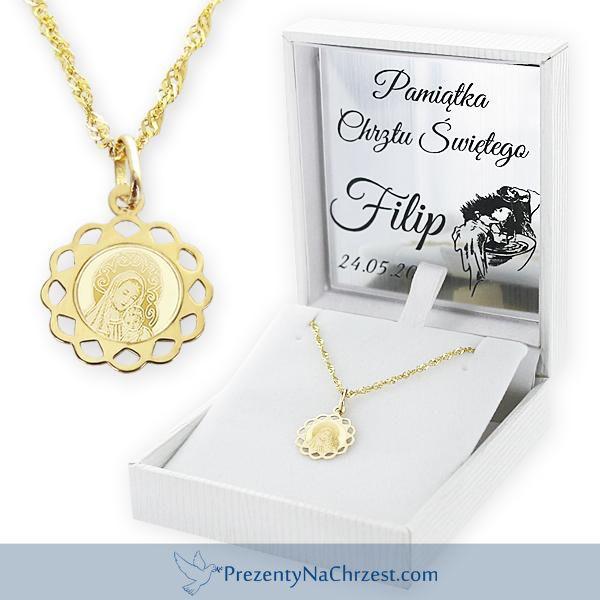 Złoty medalik z łańcuszkiem to pamiątkowy prezent, który z grawerem imienia czy daty chrztu pozostanie dziecku na całe życie.  http://bit.ly/1KhRLWN