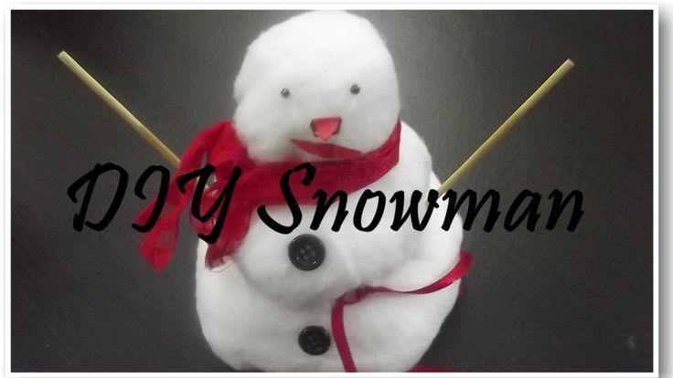DIY Snowman with cotton - Χιονάνθρωπος από βαμβάκι