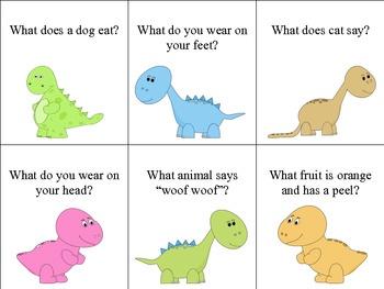 Dinosaur Preschool Language Packet. Just what I needed!!