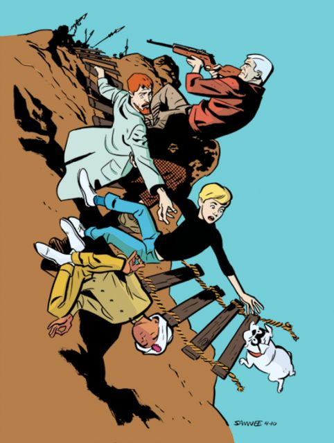jordangibson: chrissamnee: cullenbunn: Jonny Quest by Chris Samnee I've never seen this colored before! Anybody able to assign a credit to the colorist? Oh hey, I colored this!