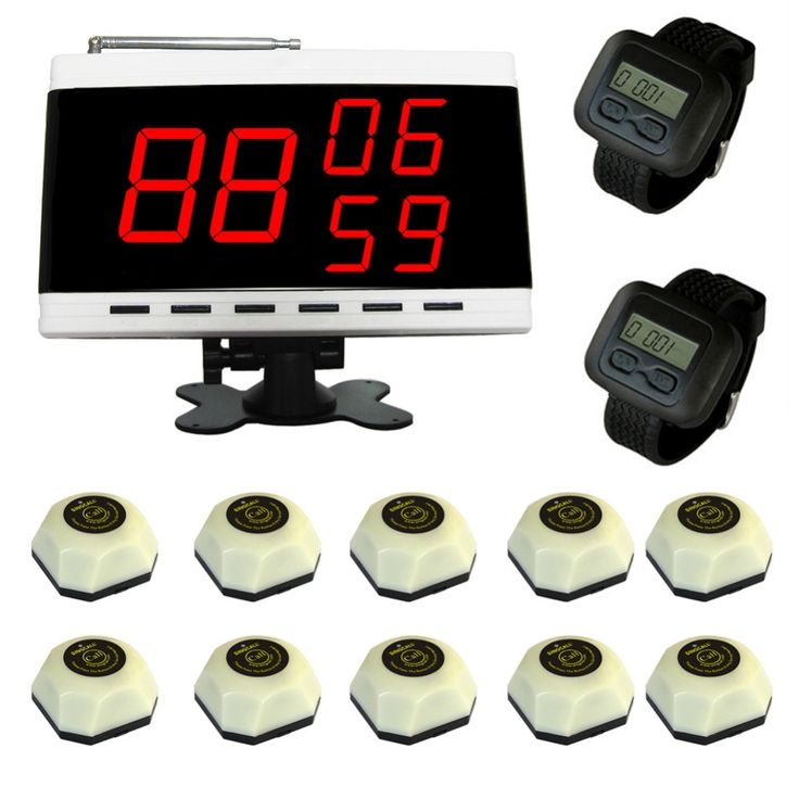 (298.99$)  Watch here  - SINGCALL Wireless Service Calling for Restaurant Coffee Shope Hotel ,wireless pager,10 bells and 2 watch receivers, 1 Display.