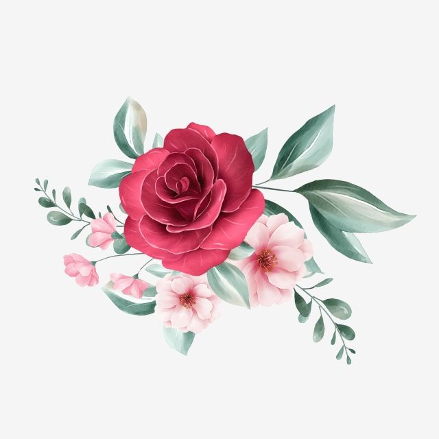 Cute Floral Arrangement For Wedding Or Greeting Card Element Invitation Flowers Template Png Transparent Clipart Image And Psd File For Free Download Floral Drawing Floral Poster Flower Art