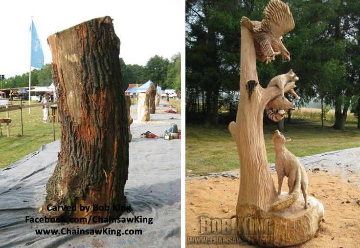 Chainsaw carving by bob king carved in steinbeck germany