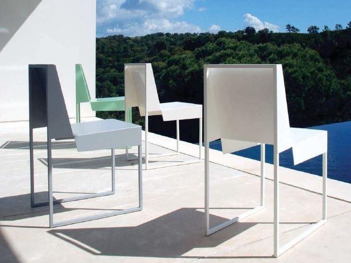 Cadeira em aço para jardim PAPER CHAIR by Branca-Lisboa design Marco Sousa Santos