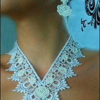 Colier dantela Lace necklace  https://www.facebook.com/Anna-Bijoux-860575383999728