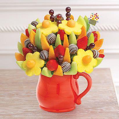 Delicious Fruit Design®Swizzle Apple Fruit Truffles® in Ceramic Pitcher