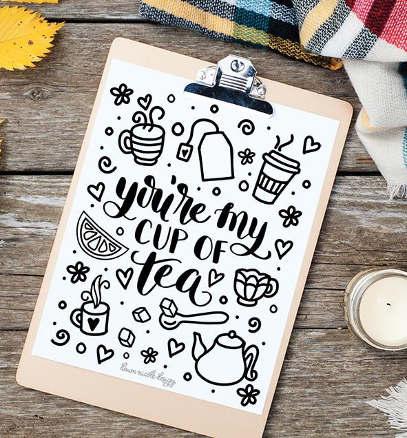 Cup Of Tea Coloring Page