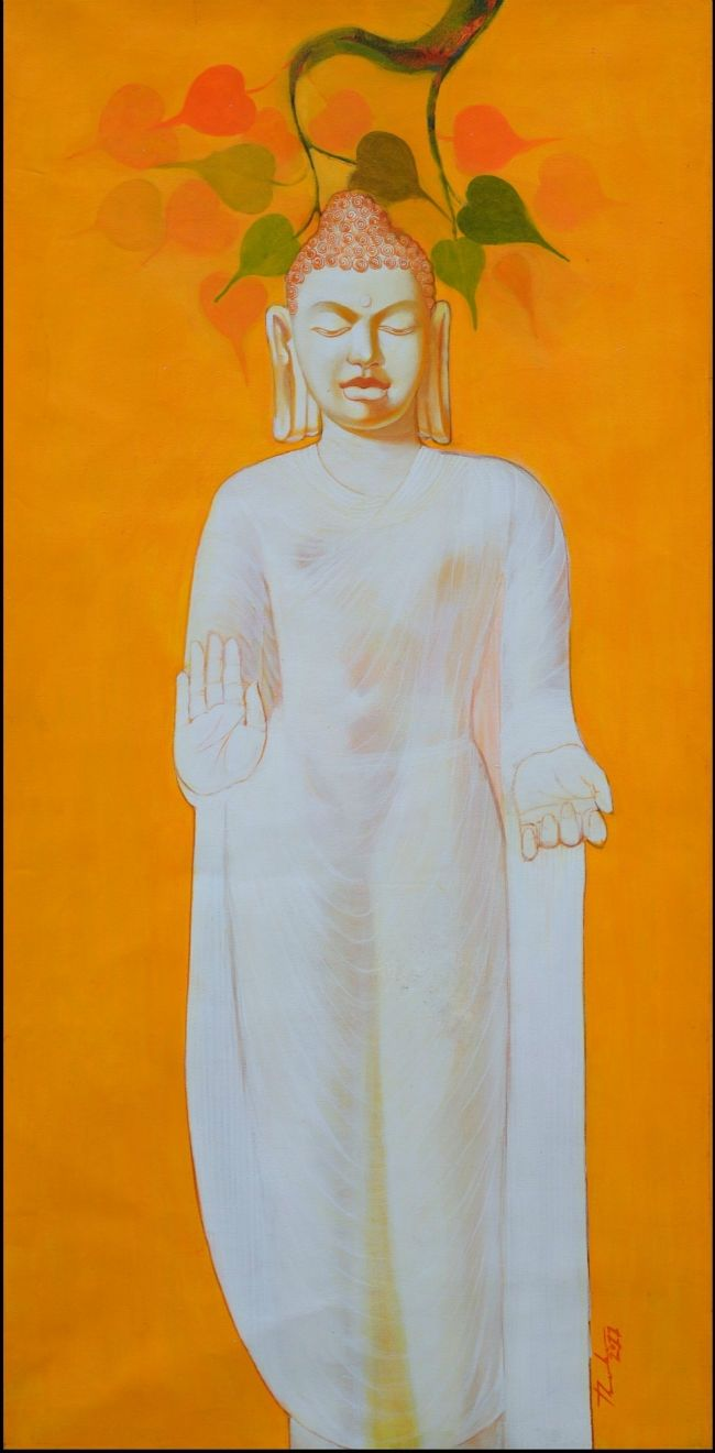 Buy Paintings Online by Artist Datta Thube - Buddha - CE101646