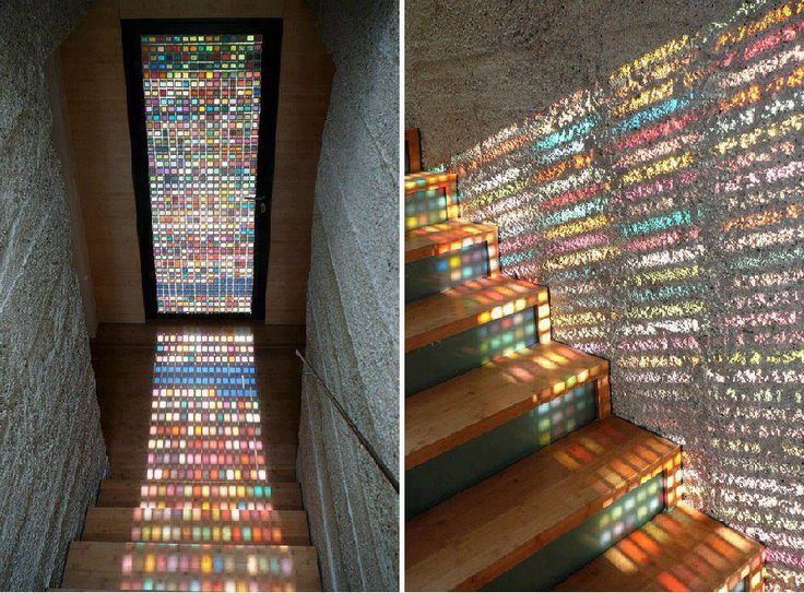 Amazing stained glass effect door