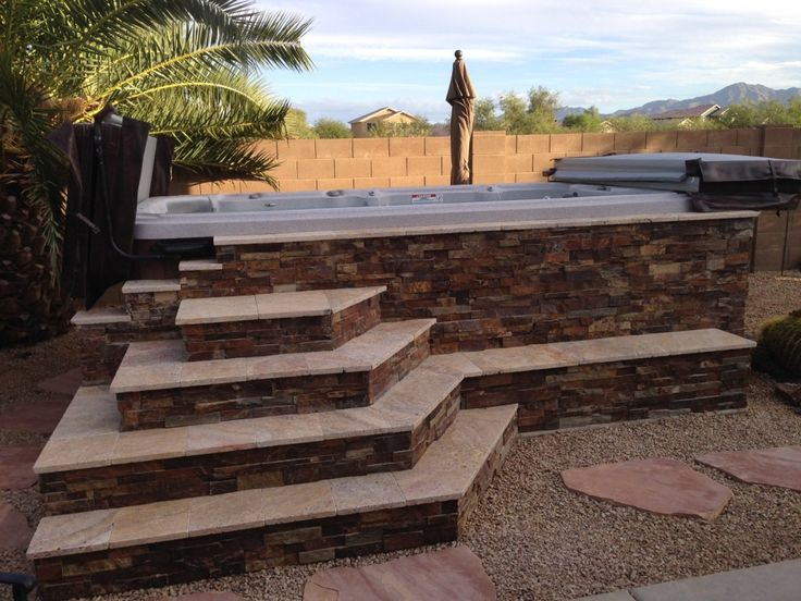 1000 Images About Hot Tub On Pinterest Decks Backyards And In Ground Spa