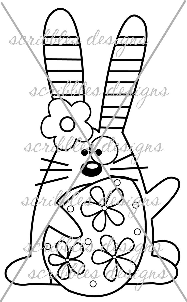 $3.00 Hoppy 1 (http://buyscribblesdesigns.blogspot.ca/2014/03/424-hoppy-1-300.html) #digital stamps #digis #bunny #Easter #egg #scribbles designs