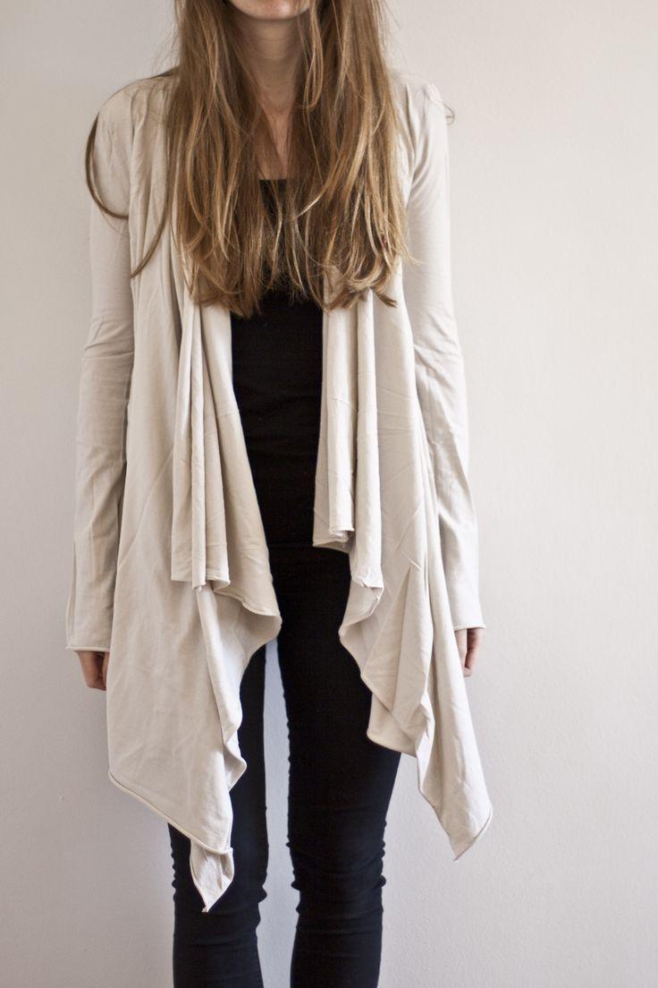 DIY: asymmetrical wrap cardigan
