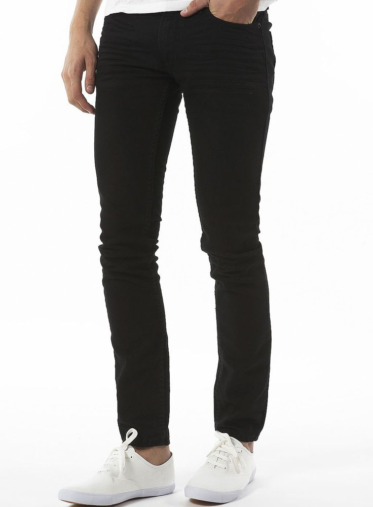 Black Stretch Skinny Jeans - Mens Jeans - Clothing - TOPMAN USA