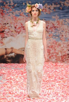 Brides: Claire Pettibone - Fall 2013 | Bridal Runway Shows | Wedding Dresses and Style | Brides.com