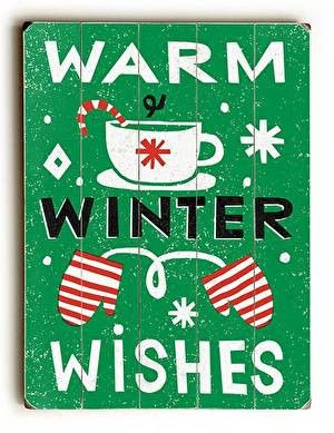 With a fun vintage feel, this Warm Winter Wishes Wood Sign will add cheer to your holiday decor.: