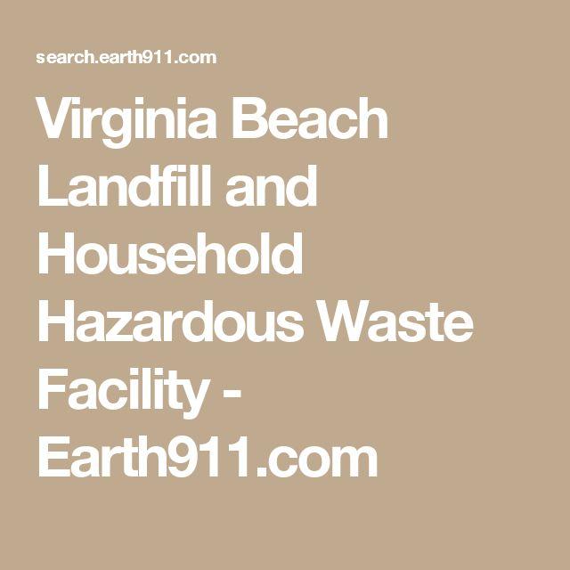 Virginia Beach Landfill and Household Hazardous Waste Facility - Earth911.com