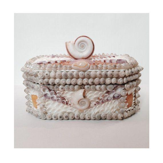 Seashell Box Vintage Shells Sailors Valentine by machelspencePHOTO, $125.00