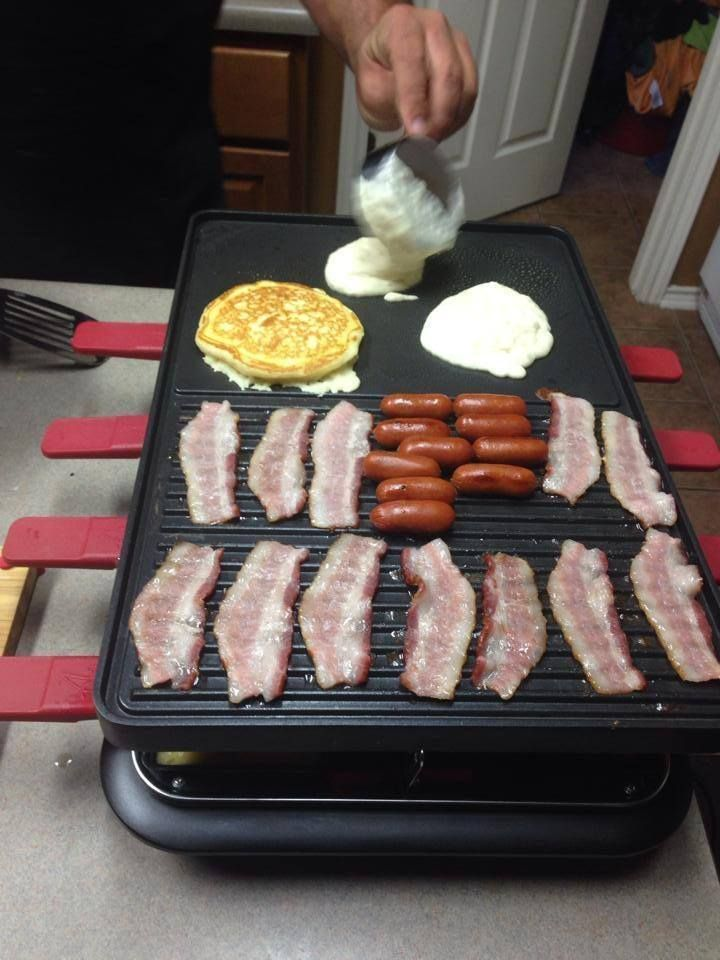 Breakfast on the Velata Raclette grill!!!!  The possibilities are endless!  Like this grill?  Want to get it half off or even FREE?  Message me today! #breakfast  #velata  #raclette