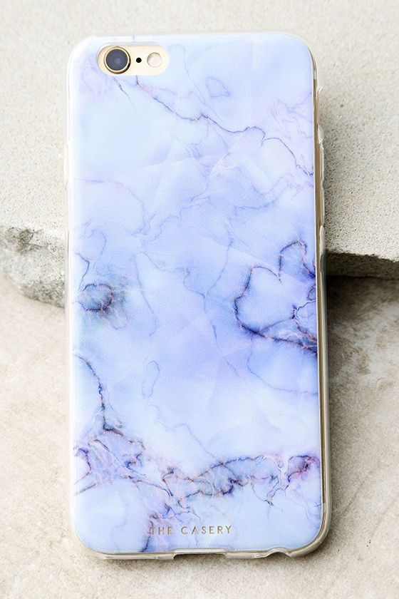 Protect your device all while displaying a cute design with The Casery Blue Marble iPhone 6 and 6s Case! This clear plastic case has a blue marble print, flexible bumper edge, raised front (for extra screen protection), and access to all ports. Fits iPhone 6 and 6s.