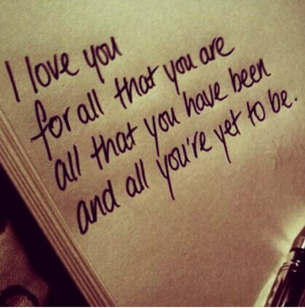 Because I love you .....