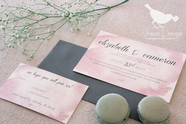 The Galah Suite, a soft watercolour design, available in any colour :: by Venecia Designs