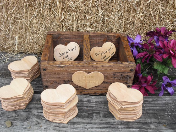 Love this idea!  GUEST BOOK ALTERNATIVE Rustic Wedding by dazzlingexpressions. $82.00, via Etsy.