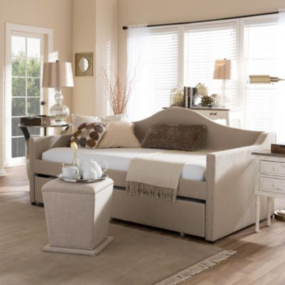 Baxton Studio Prime Arched Back With Roll-Out Trundle Daybed