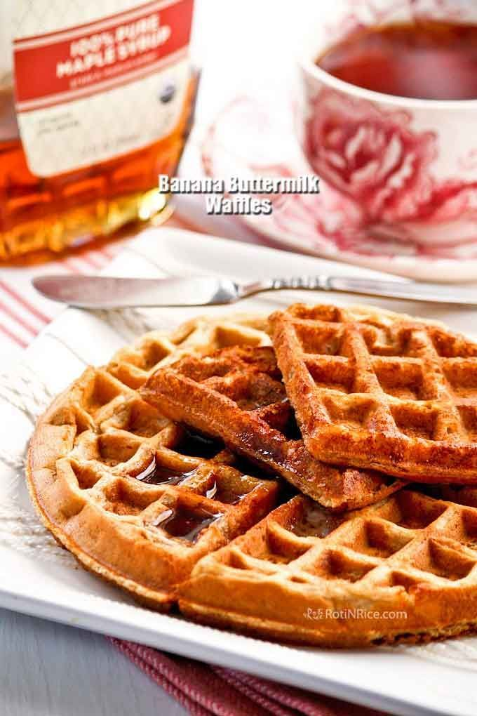 Banana Buttermilk Waffles Recipe Banana Buttermilk Buttermilk Waffles Waffles