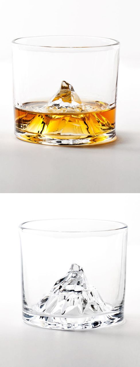 matterhorn mountain whiskey glass fathersday for more inspirations wwwbocadolobocom home - Product Design Ideas