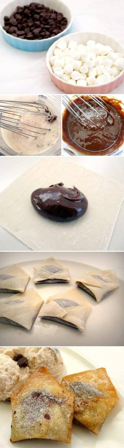 marshmallow chocolate envelopes