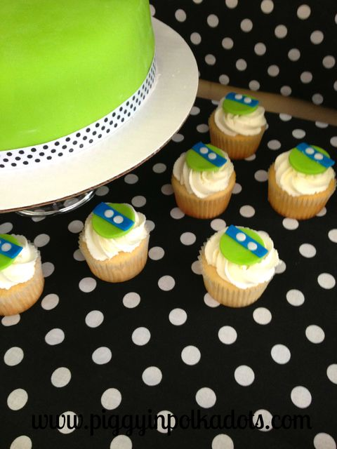 Cute cupcakes at a Ninja Turtle Party #ninjaturtle #partycupcakes