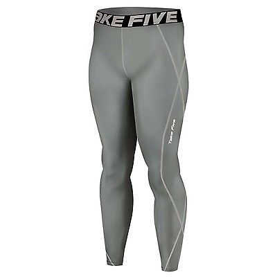 New 019 Take Five Mens Compression Base Layer Gray Running Pants Sportswear