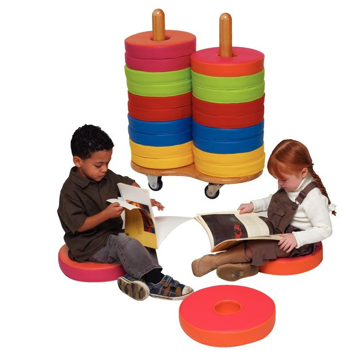 Donut Reading Cushion and Trolley Sets - Soft Seating - Children's Furniture : Gresswell - Specialist Library Supplies