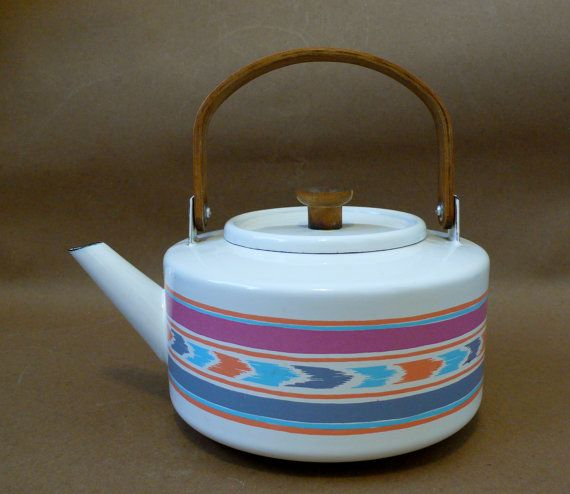 Vintage Enamel Tea Kettle