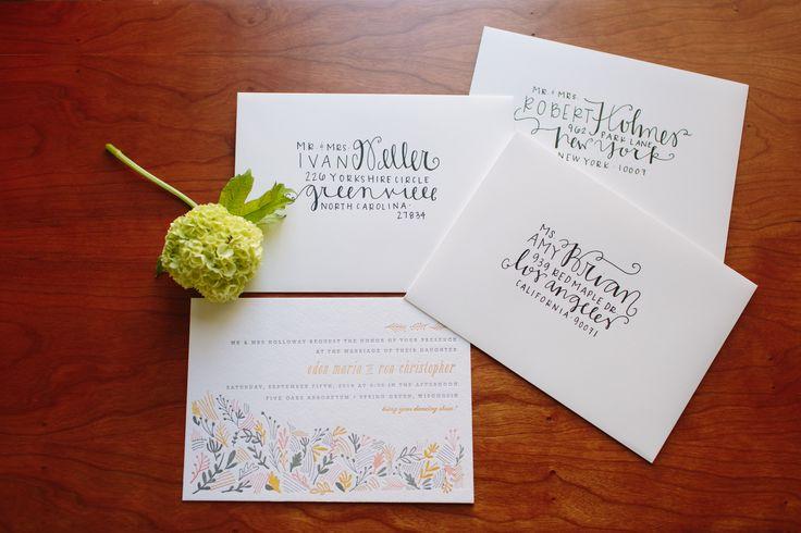 Diy Addressing Wedding Invitations: 25+ Unique Envelope Addressing Ideas On Pinterest