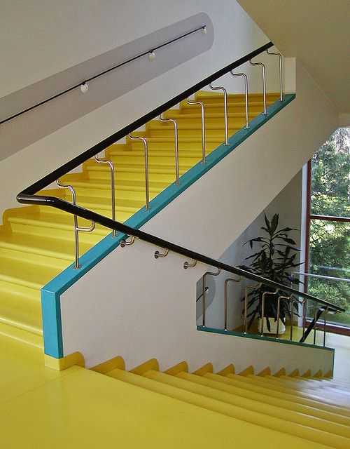 Paimio Sanatorium. Alvar Aalto. Yellow floor.