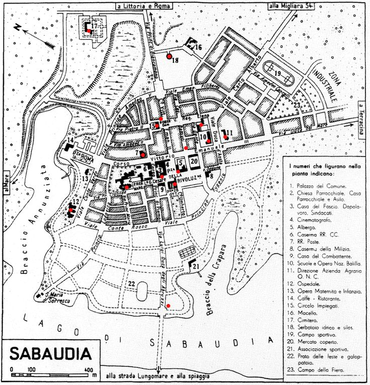 sabaudia mappa - Cerca con Google